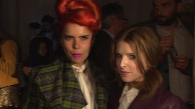 BROLL Paloma Faith Anna Kendrick Vivienne Westwood Lily Cole at Vivienne Westwood London Fashion Week SS14 on September 15 2013 in London England