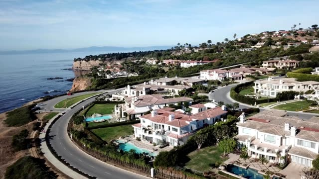 palos verdes bluffs palos verdes estates california - palos verdes stock videos & royalty-free footage