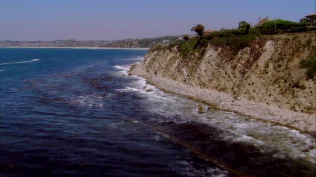 aerial palos verdes coastline, california, usa - palos verdes stock videos & royalty-free footage
