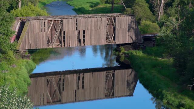 palouse covered bridge - palouse stock videos & royalty-free footage