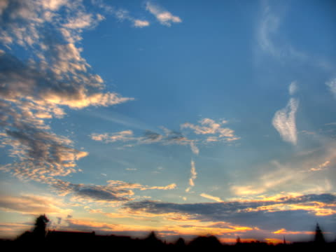 pal:sunset clouds - afterlife stock videos and b-roll footage