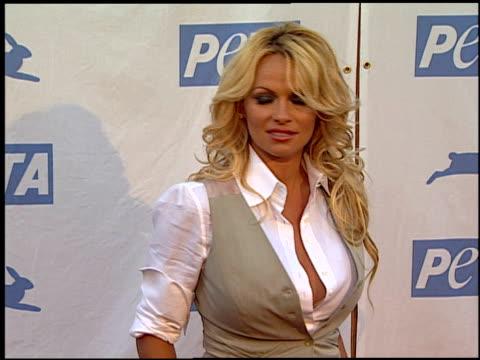 Pamela Anderson at the PeTA's 25th Anniversary Gala And Humanitarian Awards Show at Paramount Studios in Hollywood California on September 10 2005