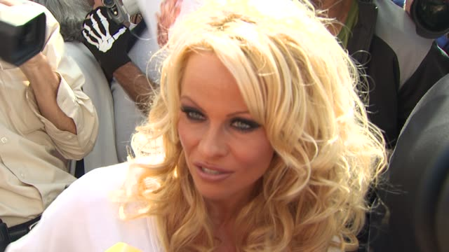 Pamela Anderson on if supporters of Peta are voting for her on Dancing With the Stars and on why she wanted to make a vegan milkshake for Millions of...