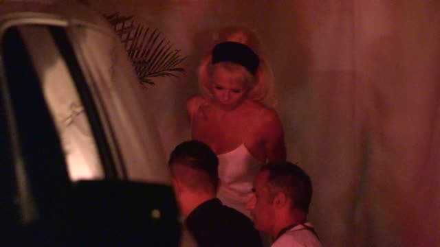Pamela Anderson shows off her best assets at Chateau Marmont in West Hollywood in Celebrity Sightings in Los Angeles