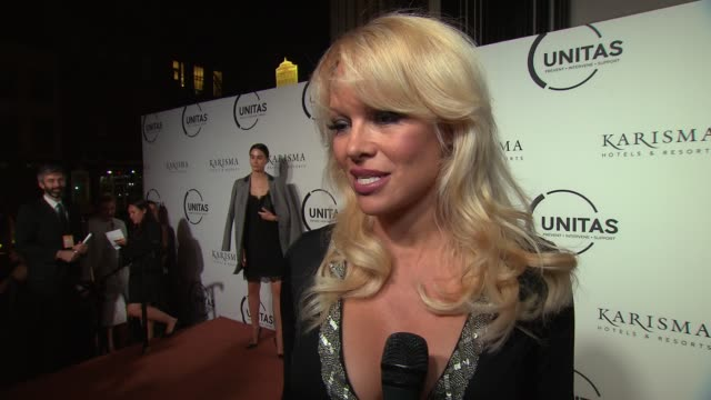 interview pamela anderson talks about models vulnerability to trafficking at unitas 2nd annual gala against human trafficking at capitale on... - vulnerability stock videos and b-roll footage