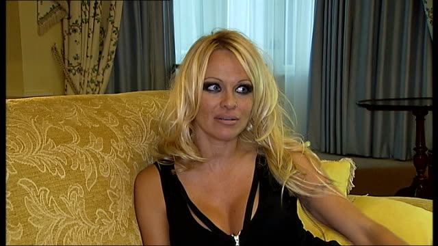 pamela anderson television series 'pam: girl on the loose'; england: london: int pamela anderson interview sot - television show stock videos & royalty-free footage