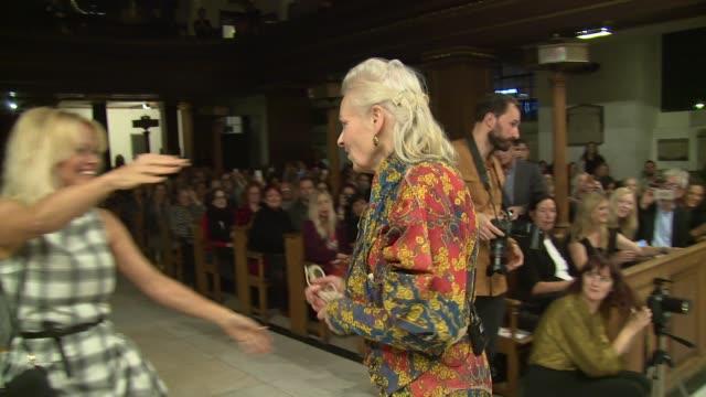 Pamela Anderson Vivienne Westwood on October 14 2016 in London England
