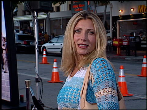 pamela bach at the 'legally blonde' premiere at the mann village theatre in westwood, california on june 26, 2001. - pamela bach stock videos & royalty-free footage