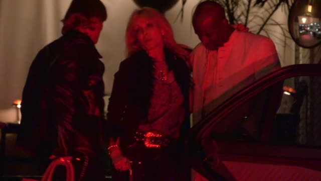 pamela bach hasselhoff departs chateau marmont in west hollywood, 10/20/12 - pamela bach stock videos & royalty-free footage