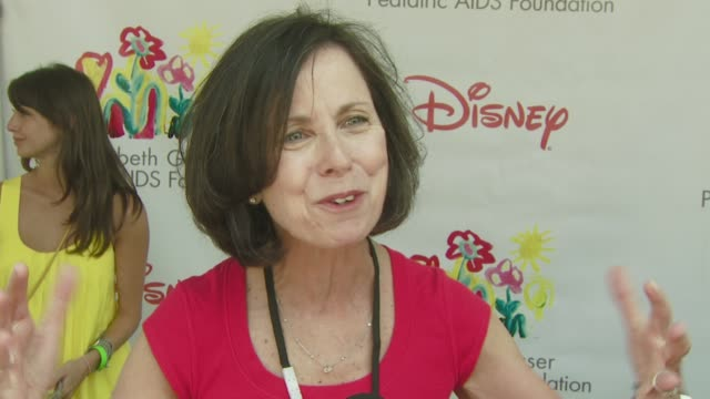 pamela barnes president and ceo of the elizabeth glaser pediatric aids foundation on the event the progress being made in aids research the theme... - elizabeth glaser pediatric aids foundation stock videos & royalty-free footage