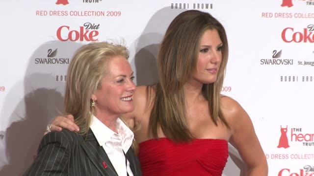 pamella roland and daisy fuentes at the mercedesbenz fashion week fall 2009 heart truth's red dress collection backstage at new york ny - daisy fuentes stock videos and b-roll footage