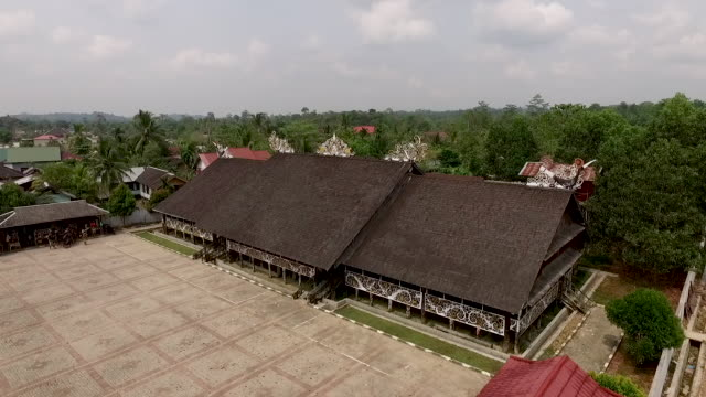 pampang dayak village. - dayak stock videos and b-roll footage