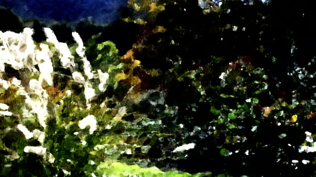 pampas grass and green bushes sway in a gentle breeze like a moving impressionistic painting. - impressionism stock videos & royalty-free footage