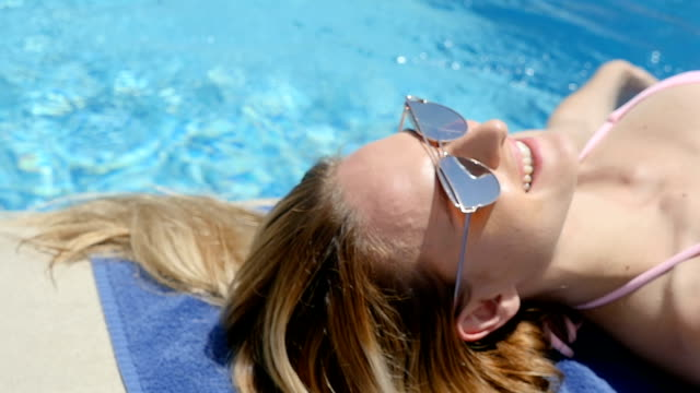pampering & summer pool rest - hot tub stock videos and b-roll footage