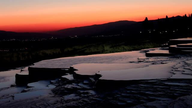 pamukkale (cotton castle) - calcium carbonate stock videos and b-roll footage