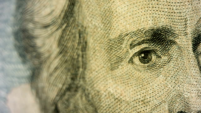 pan across andrew jackson's face on the $20 bill - twenty us dollar note stock videos & royalty-free footage