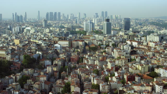 pan across istanbul's beyoglu district - istanbul stock videos & royalty-free footage