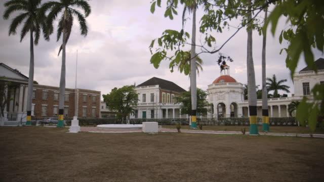 pan across rodney memorial in jamaica - town stock videos & royalty-free footage