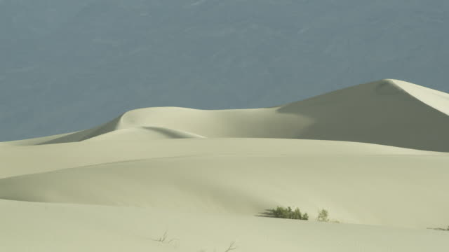 pan across sand dune in death valley, eastern california. - sand dune stock videos & royalty-free footage