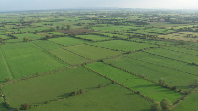 pan across somerset levels - somerset england stock videos & royalty-free footage
