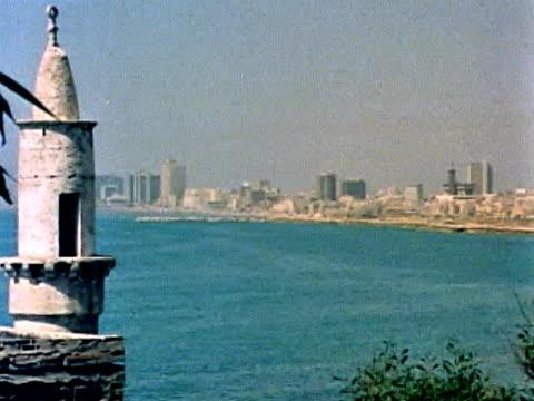 pan across tel aviv - 1973 stock videos & royalty-free footage