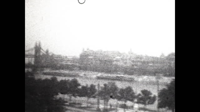 pan across the budapest, hungary cityscape in 1929. - 1920 1929 stock videos & royalty-free footage