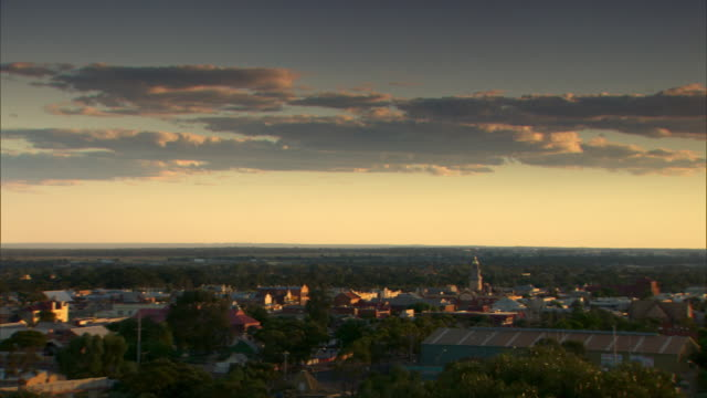 Pan across the city of Kalgoorlie in Western Australia.