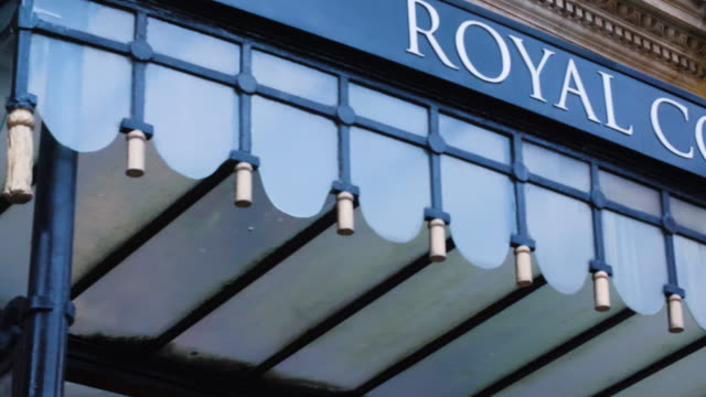 pan across the entrance sign to the royal college of music in central london. - entrance sign stock videos & royalty-free footage