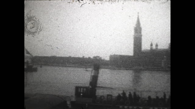 pan across the venice cityscape. - 1920 1929 stock videos & royalty-free footage