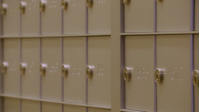 pan across tight shot of mailboxes - mailbox stock videos and b-roll footage