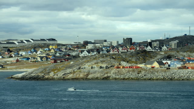 Pan Along Coast Of Nuuk Greenland