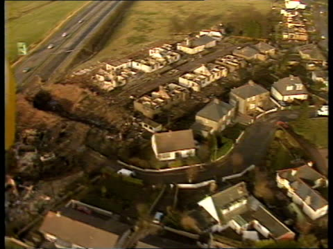 pan am takes legal action against cia scotland lockerbie airv destroyed houses of sherwood crescent - lockerbie stock videos & royalty-free footage