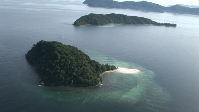 Pan around Islands of Tunku Abdul Rahman Park, Kota Kinabalu, Malaysia