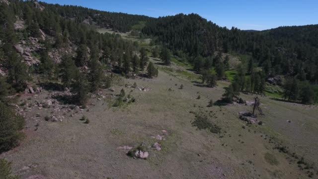 pan around rocks reveal valley.mov - appaloosa stock videos & royalty-free footage