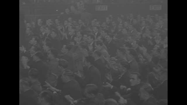 vídeos y material grabado en eventos de stock de pan assembly at the albert hall to mark the anniversary of allied victory in the second battle of el alamein during world war ii / vs bernard... - teatro royal albert hall