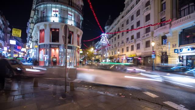 T/L Pan Calle Postas at Night, Madrid, Spain