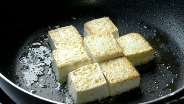 pan fried tofu - pan greek god stock videos & royalty-free footage
