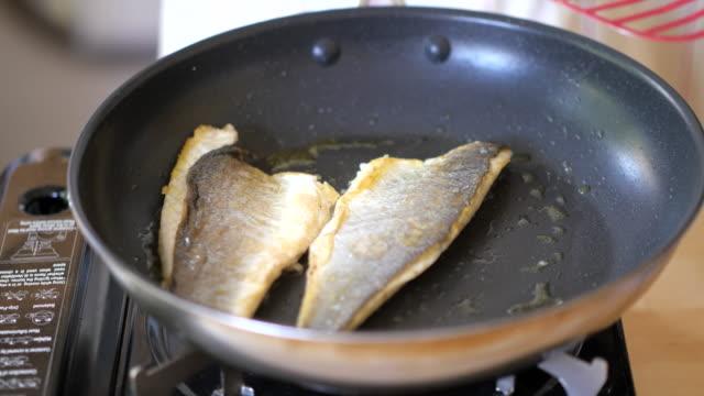 pan fry Seabass fillet