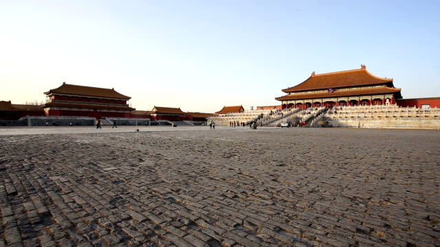 pan in the forbidden city, bejing, china. - forbidden city stock videos & royalty-free footage