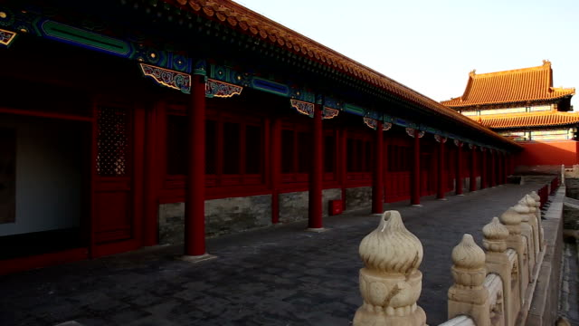 pan inside the forbidden city, bejing, china. - forbidden city stock videos & royalty-free footage