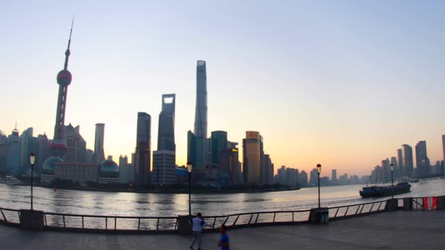 Pan L, The Bund and Pudong skyline at dawn