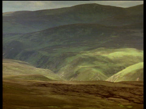 pan left across moorland and hills - moor stock videos & royalty-free footage