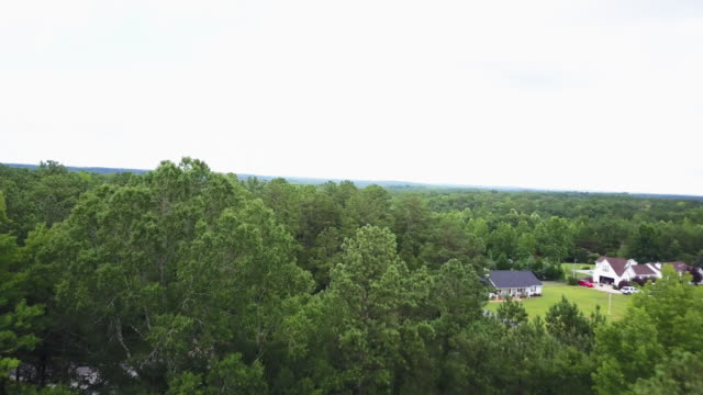 pan left aerial, scenic countryside in georgia - georgia country stock videos and b-roll footage