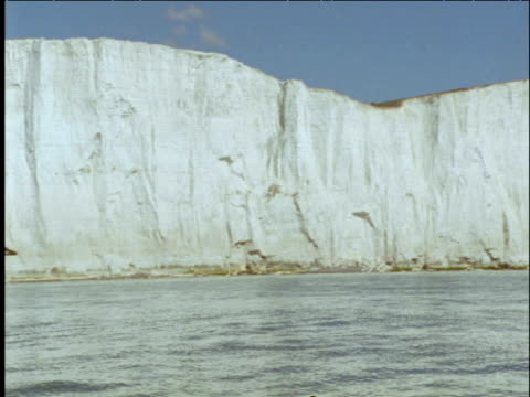 pan left from seven sisters to bow of yacht sussex - english channel stock videos & royalty-free footage