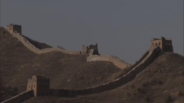 vídeos y material grabado en eventos de stock de pan left over great wall of china at badaling, beijing. - badaling