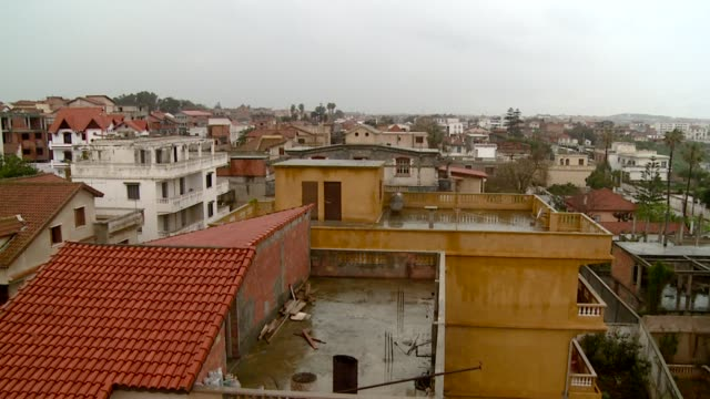 Pan left over rooftops of Algiers Available in HD.