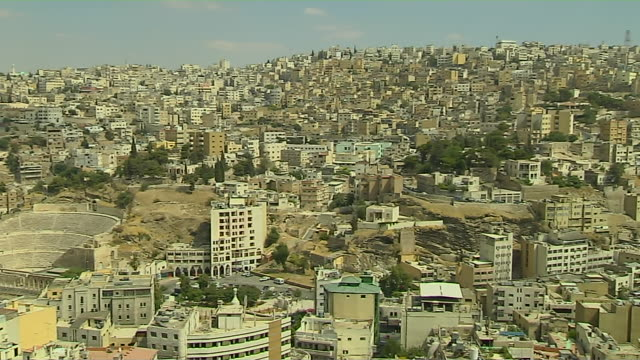 Pan Left Shot Amman City Amman Governorate Jordan