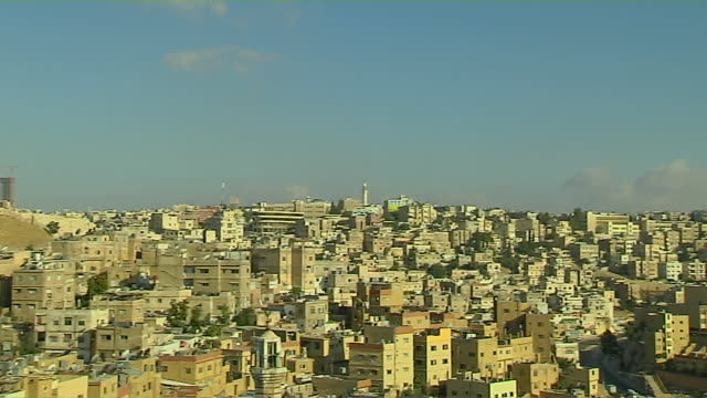 Pan Left Shot City Amman Governorate Jordan