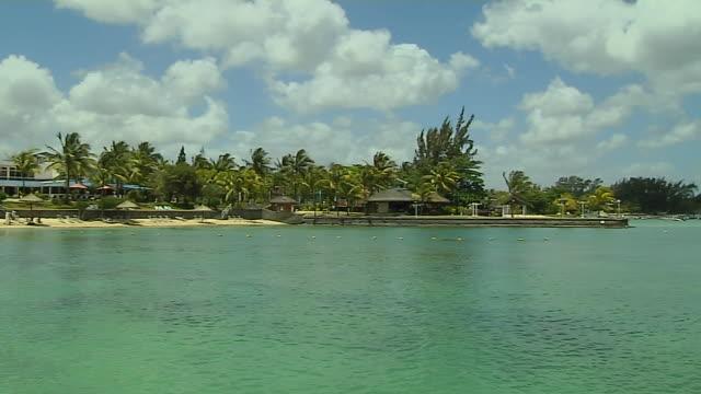 Pan Left Shot Coast Port Louis Mauritius