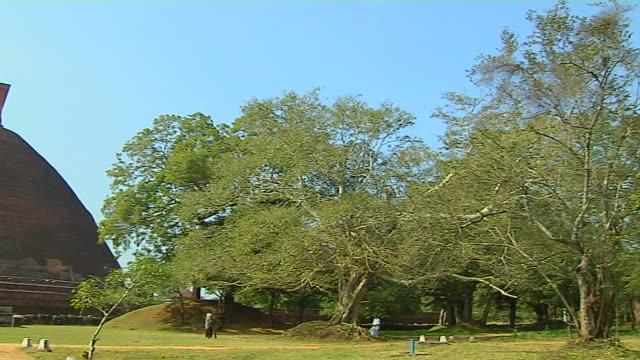 pan left shot jetavana anuradhapura north central province sri lanka - sri lankan culture stock videos & royalty-free footage